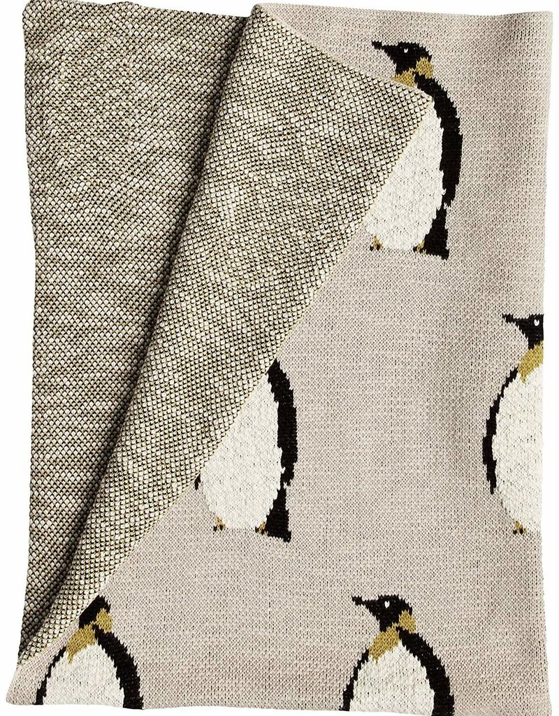 creativeco-op Baby knitted blanket - Penguin