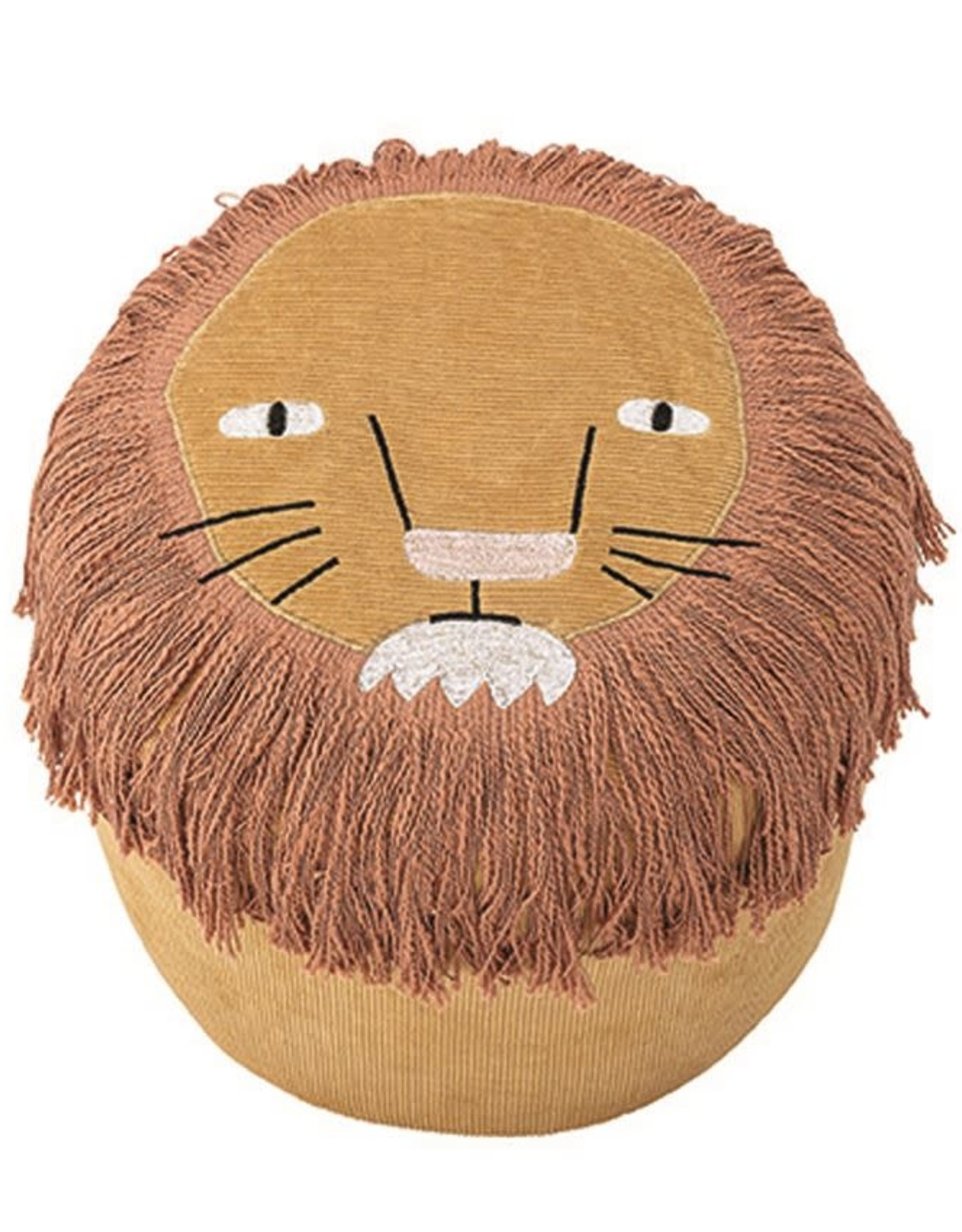 Bloomingville Corduroy embroidered pouf - Lion