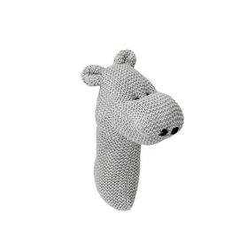 Bloomingville Hochet en tricot - Hippopotame