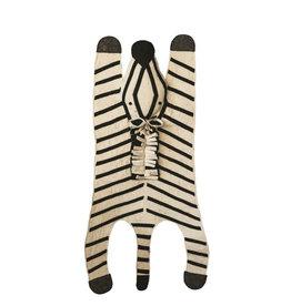 Bloomingville Wool Felt Black & White Rug - Zebra