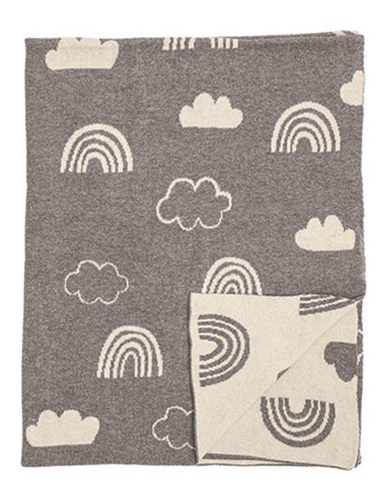 Bloomingville Baby knitted blanket - Rainbow