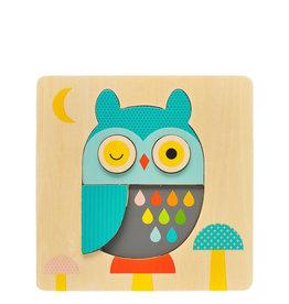 Petit Collage Casse-tête en bois - Petit hibou