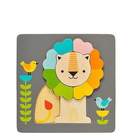 Petit Collage Casse-tête en bois - Petit lion