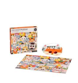 Petit Collage Decoder puzzle - Animal festival