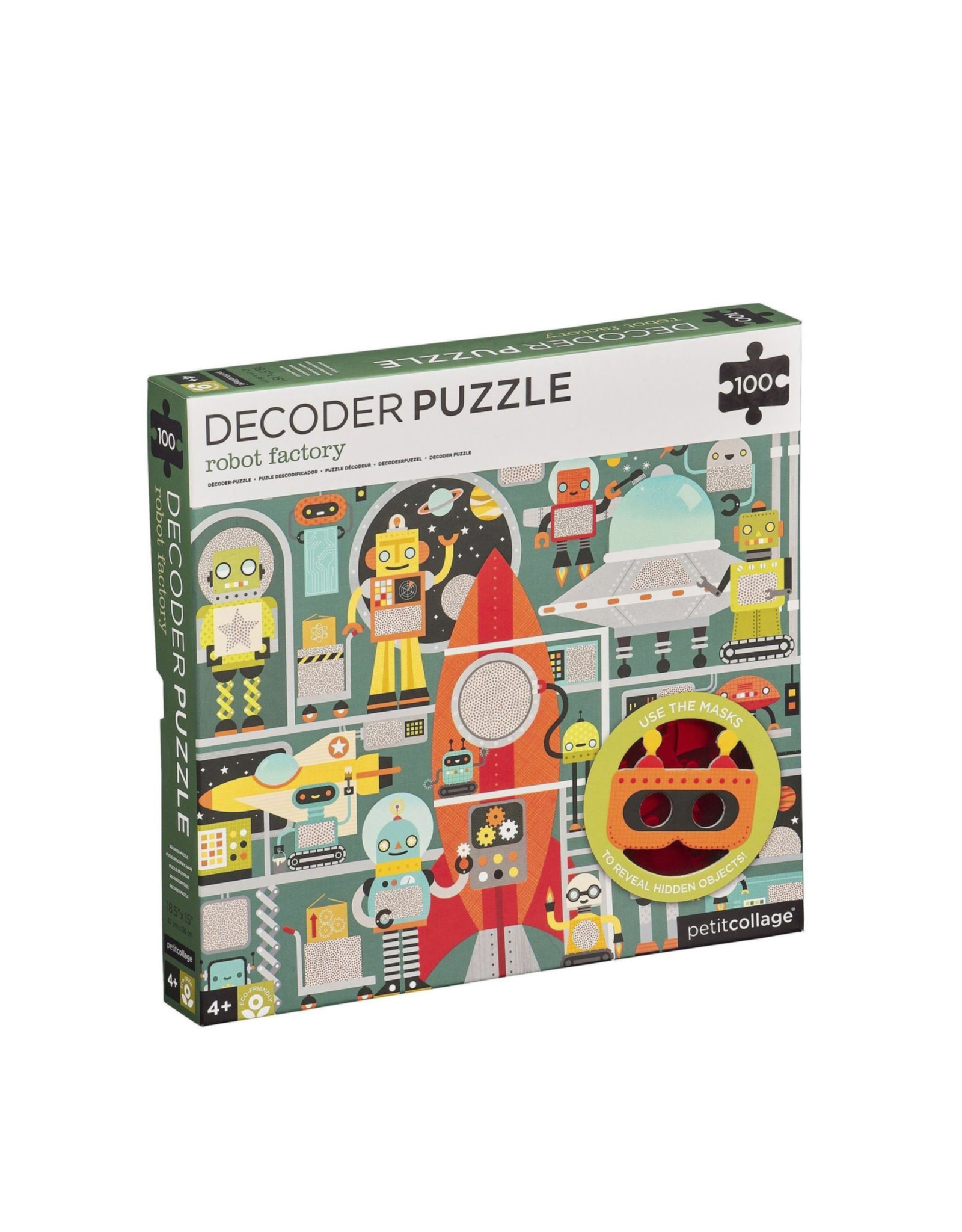 Petit Collage Decoder puzzle - Robot factory