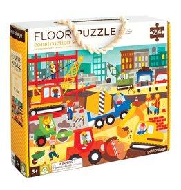 Petit Collage Floor puzzle - Construction site 3+
