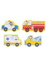 Petit Collage Casse-tête - véhicules de sauvetage 2+