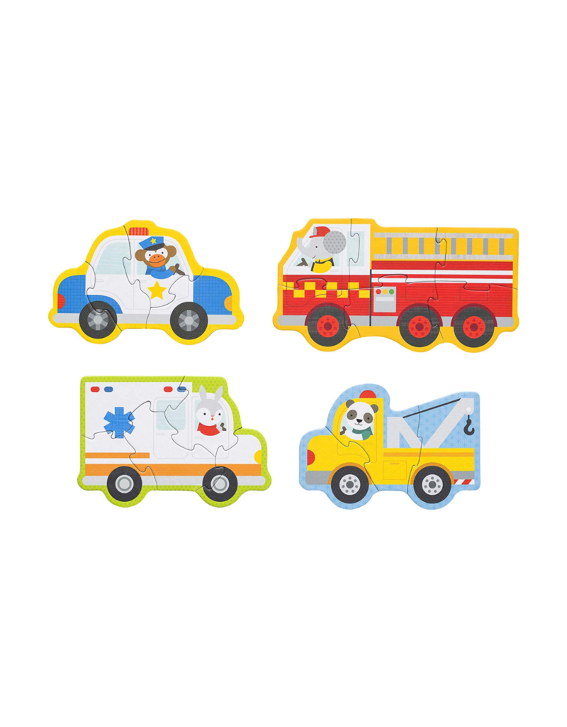 Petit Collage Beginner puzzle - rescue vehicules 2+