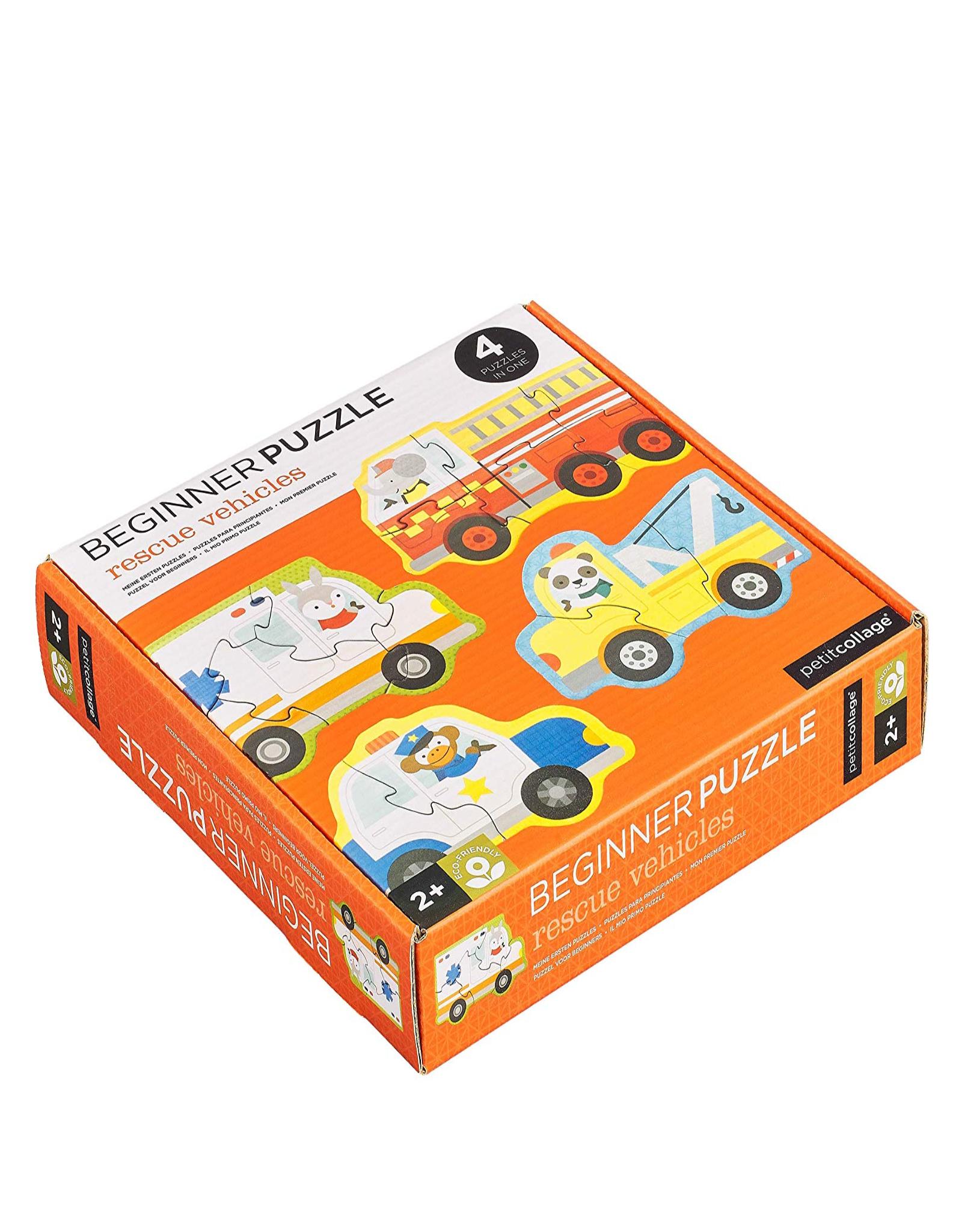 Petit Collage Beginner puzzle - rescue vehicules 2+