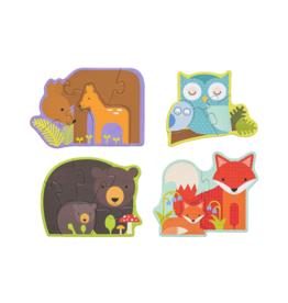 Petit Collage Casse-tête - Les bébés de la forêt 2+
