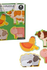 Petit Collage Casse-tête - bébé de la ferme 2+