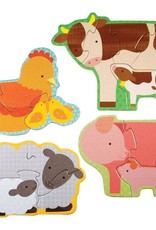 Petit Collage Beginner puzzle - farm babies 2+