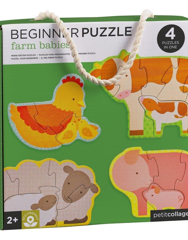Petit Collage Beginner puzzle - farm babies 2+
