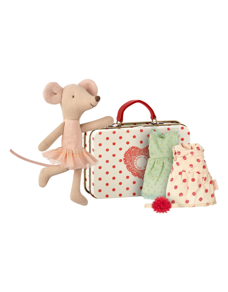 Maileg Ballerina mouse with her suitcase for clothes