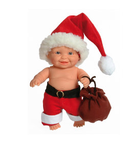 Paola Reina Third free when you buy 2! Peques Doll - Teo celebrate Christmas- 21cm / 8''