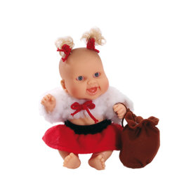 Paola Reina Third free when you buy 2! Peques Doll - Lucia celebrate Christmas - 21cm / 8''
