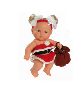 Paola Reina Third free when you buy 2! Peques Doll - Jana celebrate Christmas - 21cm / 8''