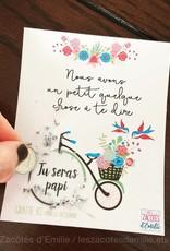 les zacôtés d'émilie scratch card - Tu seras papi ! ( french card)