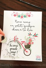 les zacôtés d'émilie scratch card - Tu seras grand soeur ! (in French)