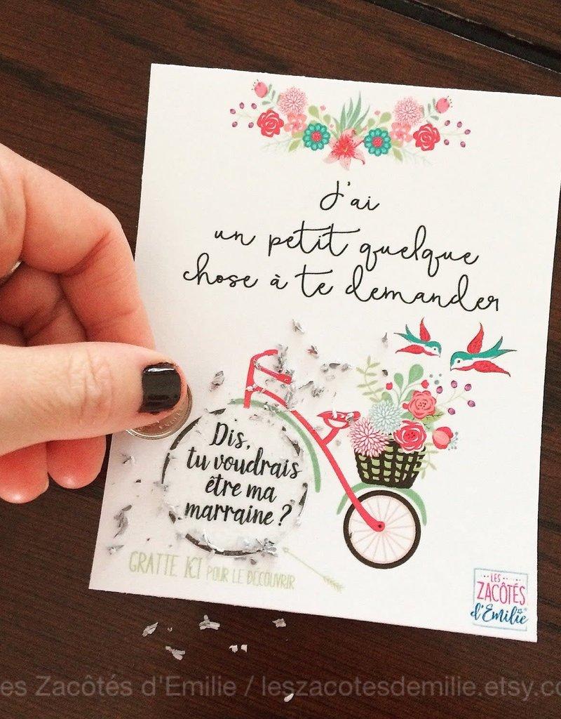 les zacôtés d'émilie scratch card - Voudrais-tu être ma marraine ! ( in french )