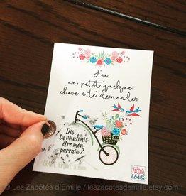 les zacôtés d'émilie scratch card - Voudrais-tu être mon parrain ! ( in french )