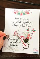 les zacôtés d'émilie scratch card - Tu seras grand-maman ! ( in french )