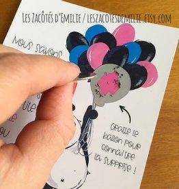 les zacôtés d'émilie scratch card - C'est une fille ! ( in french )