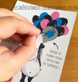 les zacôtés d'émilie scratch card - C'est un garçcon ! ( in french )