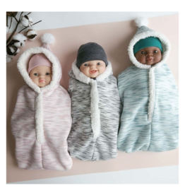 Paola Reina Cocoon + hat for doll - pink