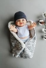 Paola Reina Nid d'ange + tuque pour poupée - gris