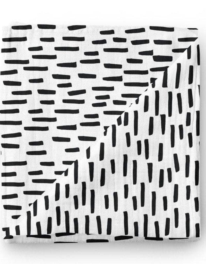 Olé Hop Bamboo blanket - Monochrome