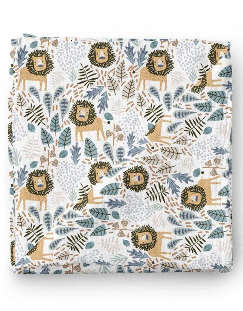 Olé Hop Bamboo blanket - Savannah lion