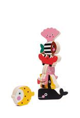 Petit Monkey Wooden stacker game - Ocean
