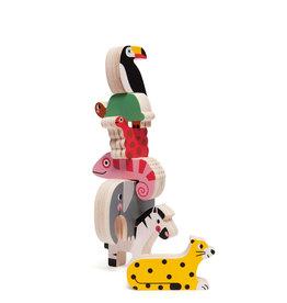 Petit Monkey Wooden stacker game - Jungle