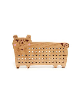 Petit Monkey Wooden cross stitch game - Bear