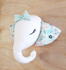 La petite renarde Wall hanging : Elephant with teal ears