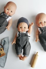 Paola Reina Baby Albert with overalls, camisole and hat
