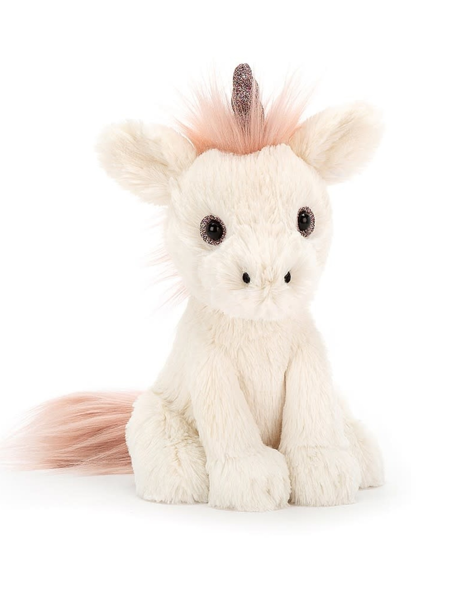 Jelly Cat Stuffed Shiny unicorn with shiny eyes