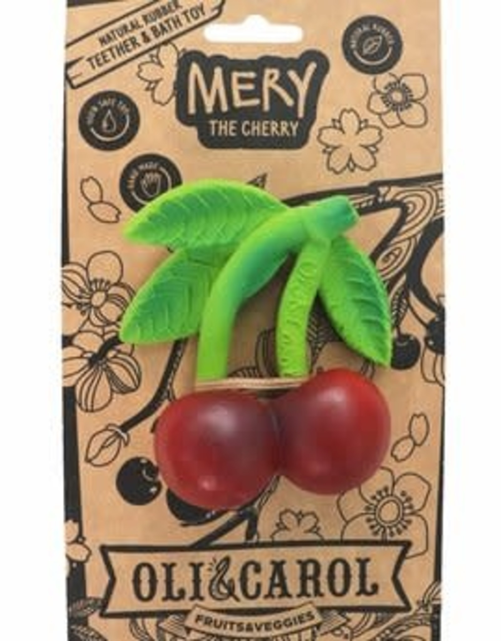 Oli & Carol Natural rubber teether - Mery the Cherry