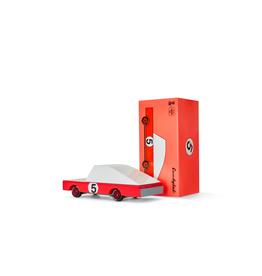 Candylab Wooden car - Candycar - Red racer #5