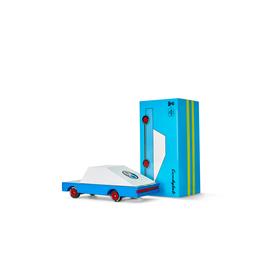 Candylab Wooden car - Candycar - Blue racer#5