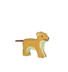 Holztiger Wooden animal - lion cub