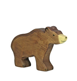 Holztiger Animal en bois - Ours brun