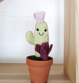 Pink Clémentine Cactus en feutrine - Vert, pourpre et lavande