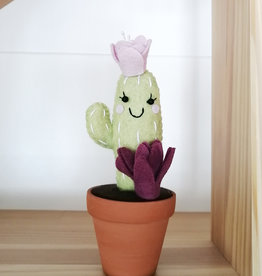 Pink Clémentine Felt cactus - Green, purple and lavender