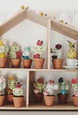 Pink Clémentine Cactus en feutrine - Vert, bleu et rose