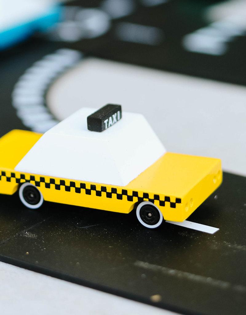 Candylab Voiture de bois - Candycar - Taxi jaune