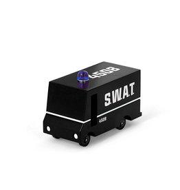 Candylab Voiture de bois - Candycar - Camion de police S.W.A.T
