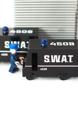 Candylab Voiture de bois - Candycar - Camion de police spécialisée