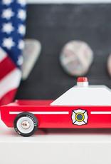 Candylab Voiture de bois - Candylab - Voiture chef des pompiers